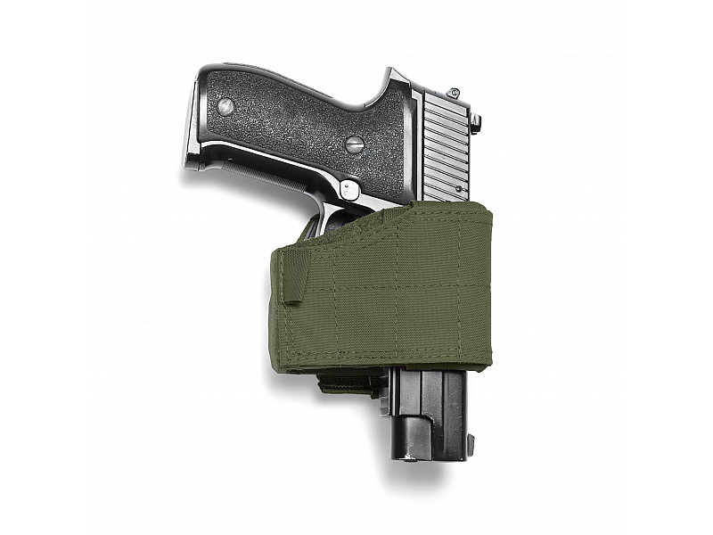 Кобура Universal Pistol Holster Warrior Assault Systems универсальная, MOLLE, правая, цвет – Olive Drab