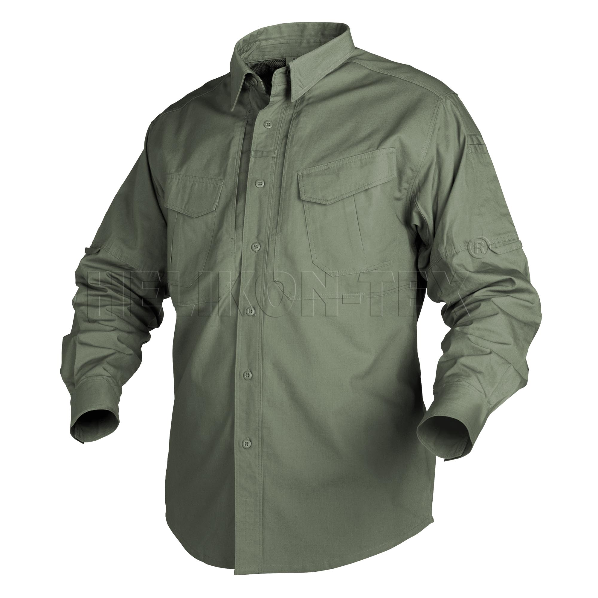 Рубашка Helikon-Tex Defender с длинным рукавом olive green